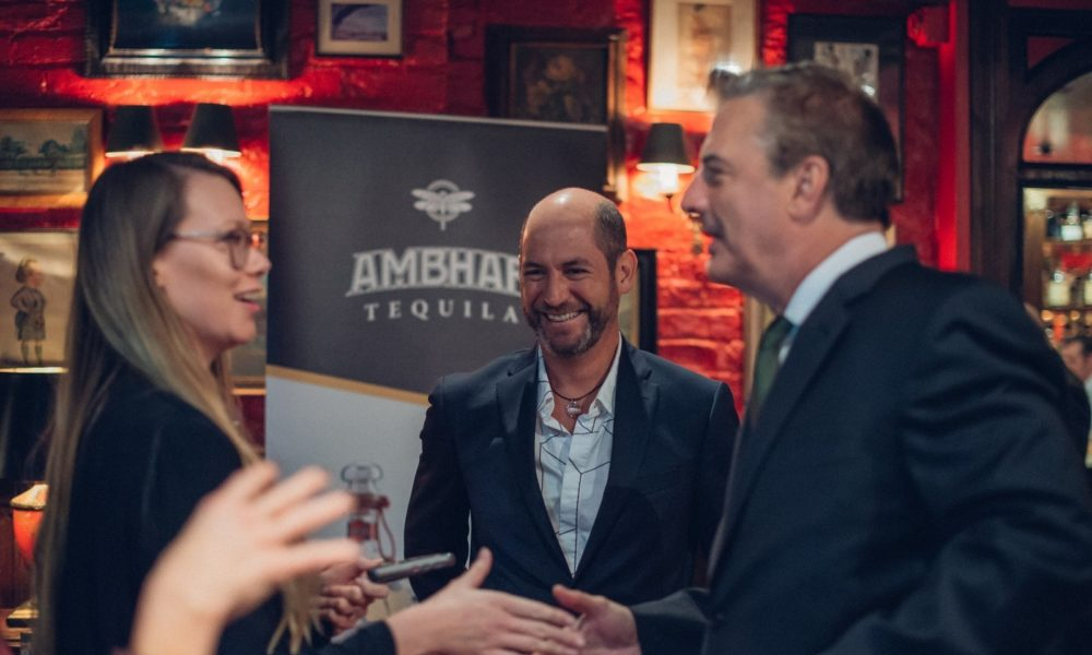 UK TASTING OF AMBHAR TEQUILA WITH HOLLYWOOD AND SILVER SCREEN STAR CHRIS NOTH