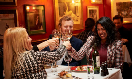VIP 3 or 2 course Gourmet Dinner Menu & Live Music at all Boisdale Restaurants