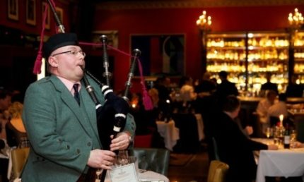 Burns Night at Boisdale! The only place to address the haggis in London