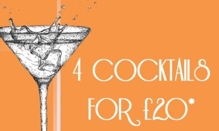 4 COCKTAILS FOR £20.....COCKTAIL MADNESS!