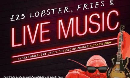 Lobster Fries & Live Music - £25