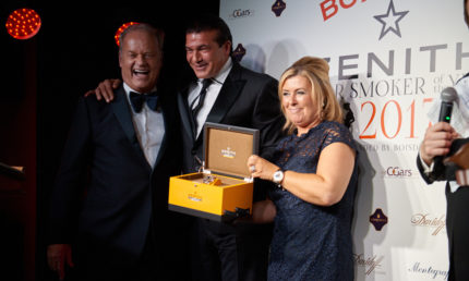 Tamer Hassan Crowned The Zenith Watches Cigar Smoker of The Year 2017!