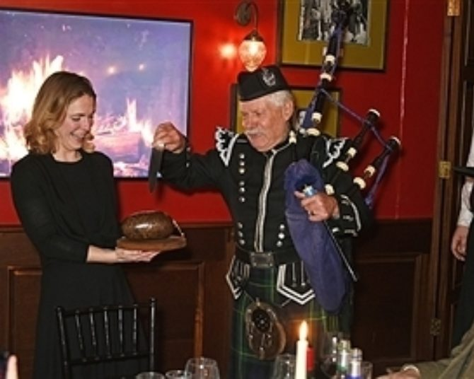 There's only one place to address the haggis....Burns night at Boisdale!