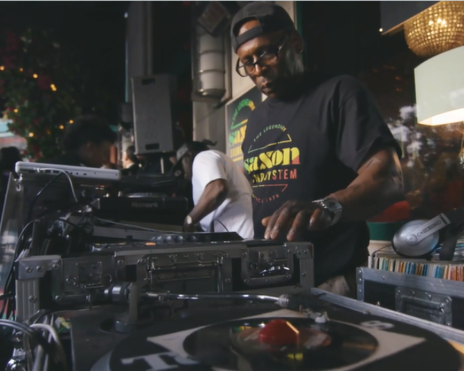 The Jamaica One Love Garden with DJs from Saxon Sound System