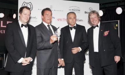 Arnold Schwarzenegger, Kelsey Grammer, Baroness Trumpington At Boisdale Cigar Awards